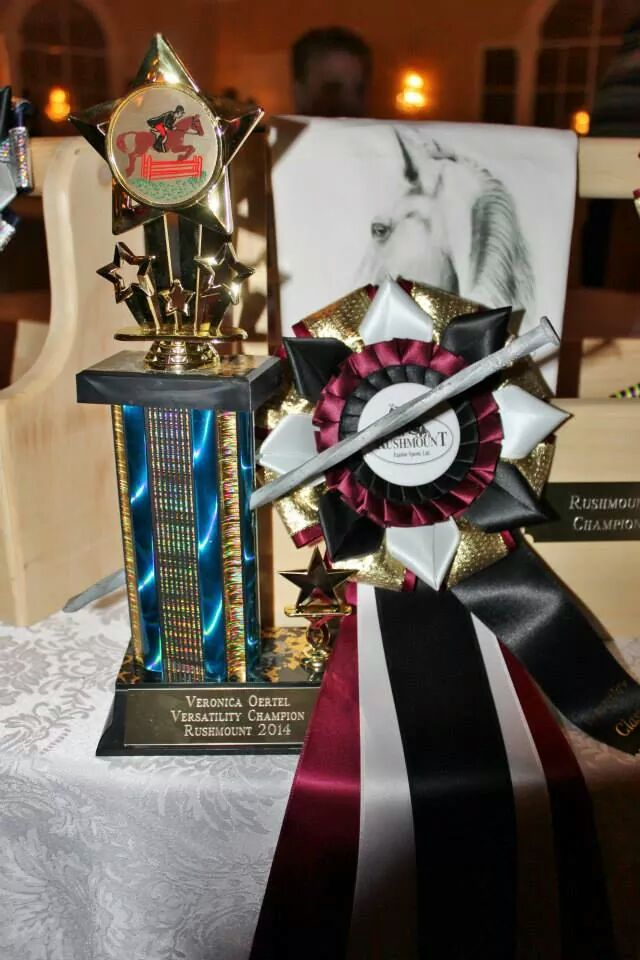 Veronica Oertel Versatility Trophy and Ribbon